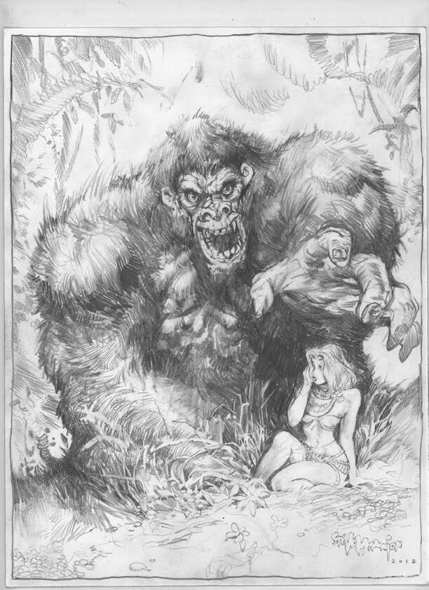 king kong drawing kong by kevin west kevinwest kong kingkong skullisland drawing kong king