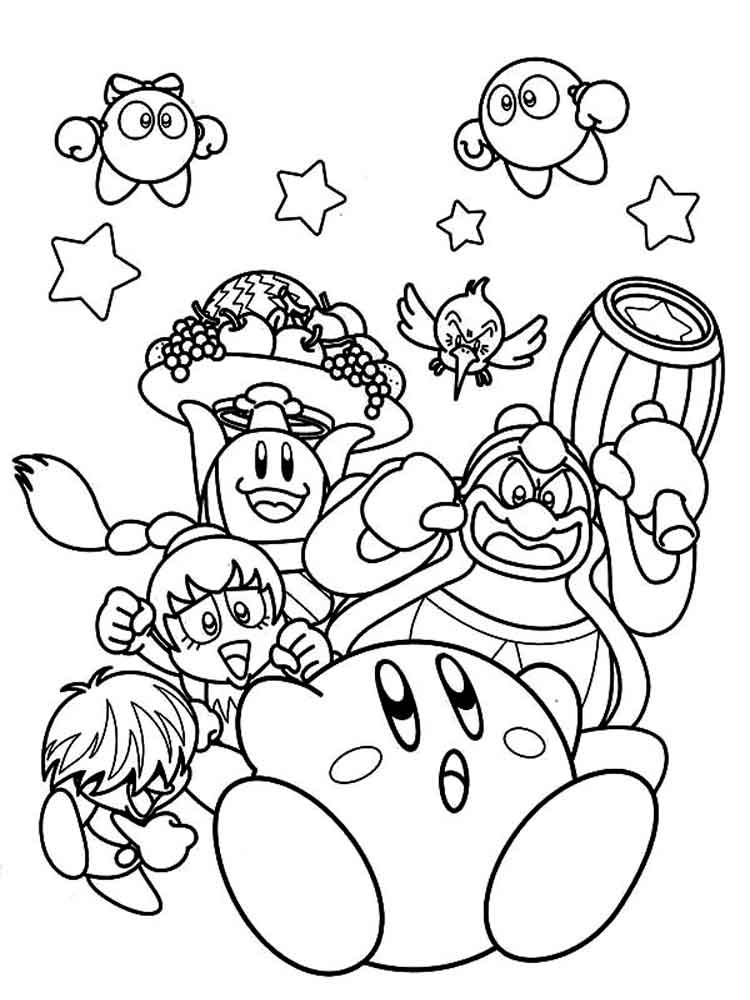 kirby coloring pictures free printable kirby coloring pages for kids coloring kirby pictures