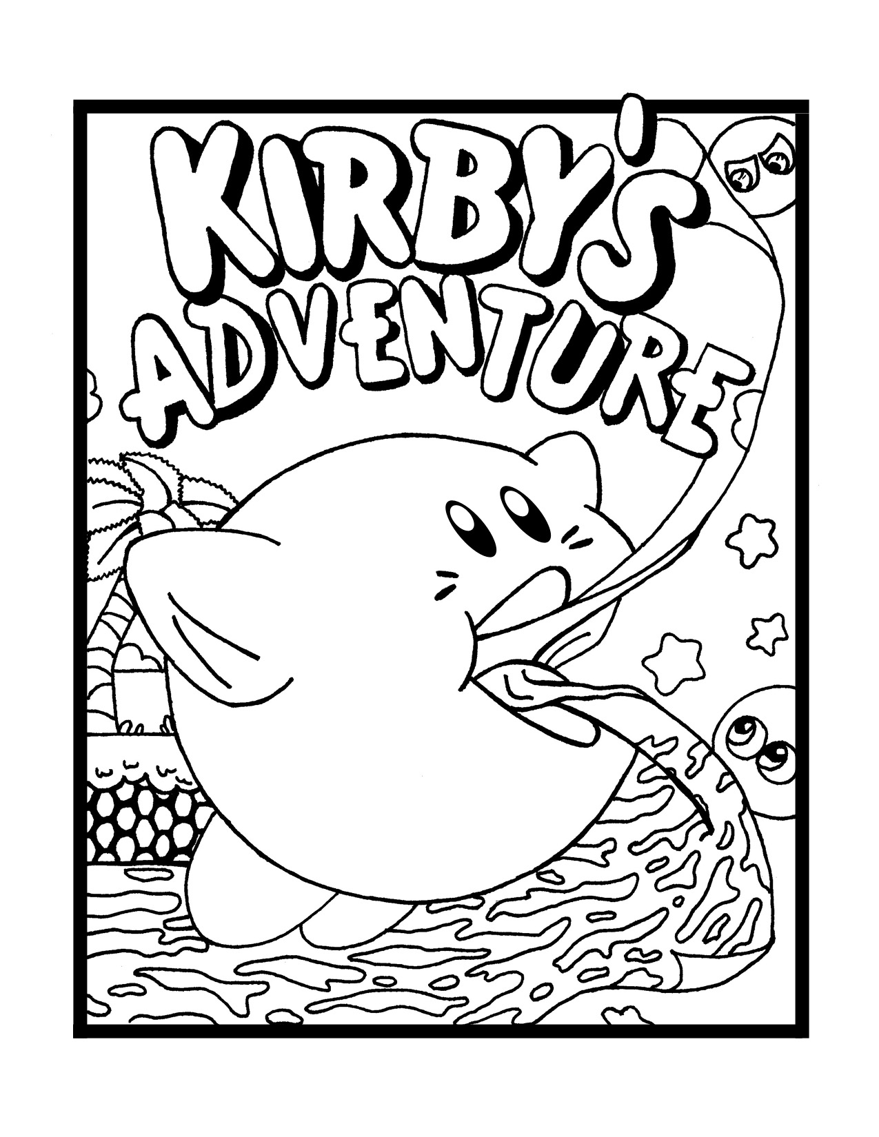 Kirby coloring pictures