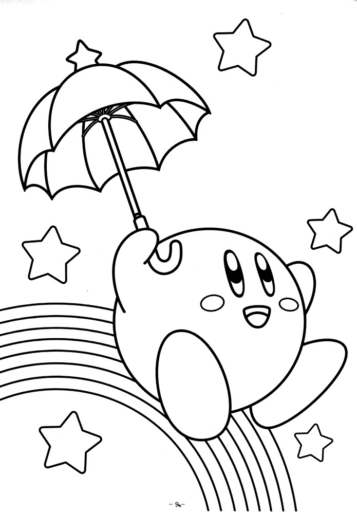 kirby coloring pictures sword needle kirby coloring pages kids play color kirby pictures coloring