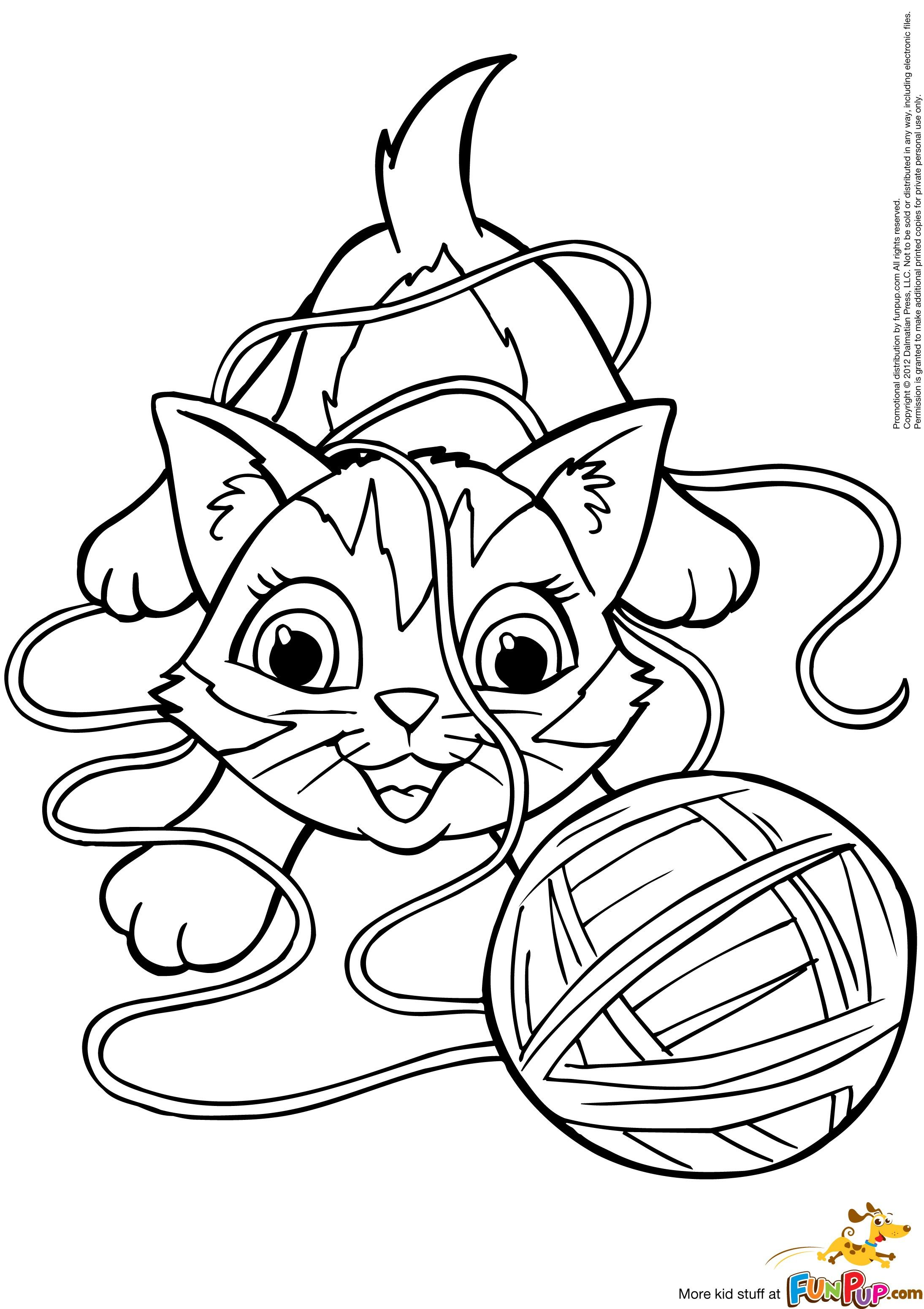 kitten coloring pictures yarn coloring page at getcoloringscom free printable coloring pictures kitten
