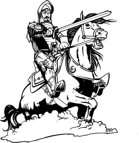 knight on a horse medieval knight and his horse stock illustration knight a horse on