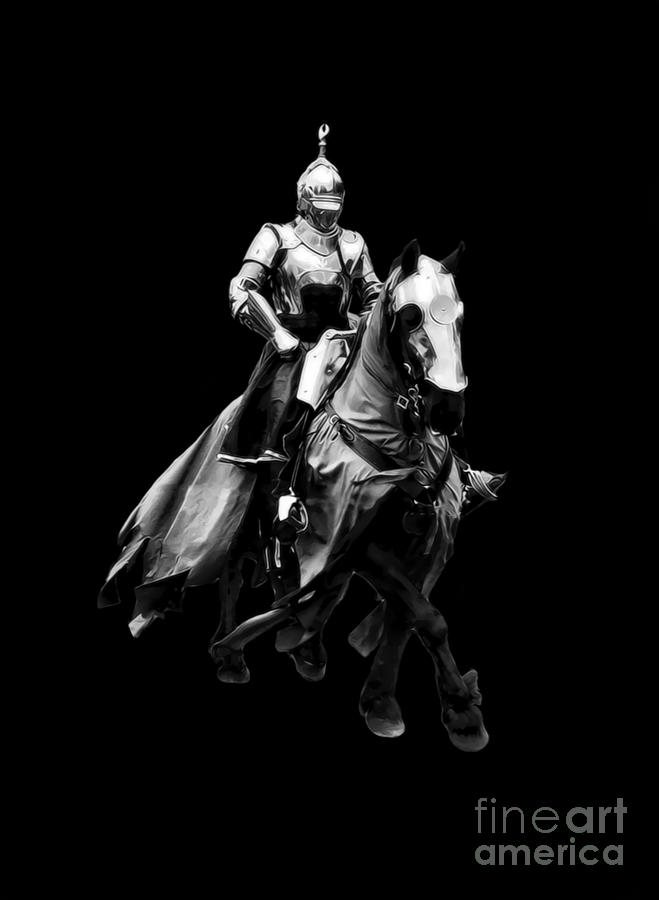 knight on a horse quotknight on horse black and whitequot photographic prints by horse knight a on