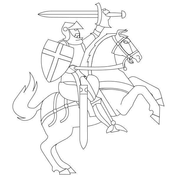 knight on horse coloring page knight on horseback horse coloring pages coloring pages coloring on knight horse page