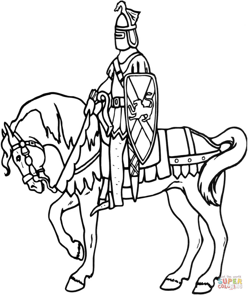 knight on horse coloring page knight patroling on horse coloring page coloring sky page on coloring horse knight