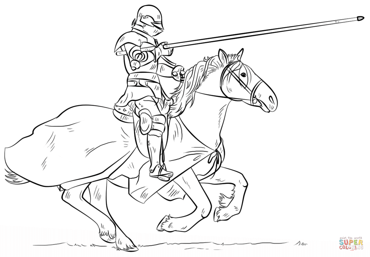 knight on horse coloring page knights coloring pages download and print knights on page knight coloring horse