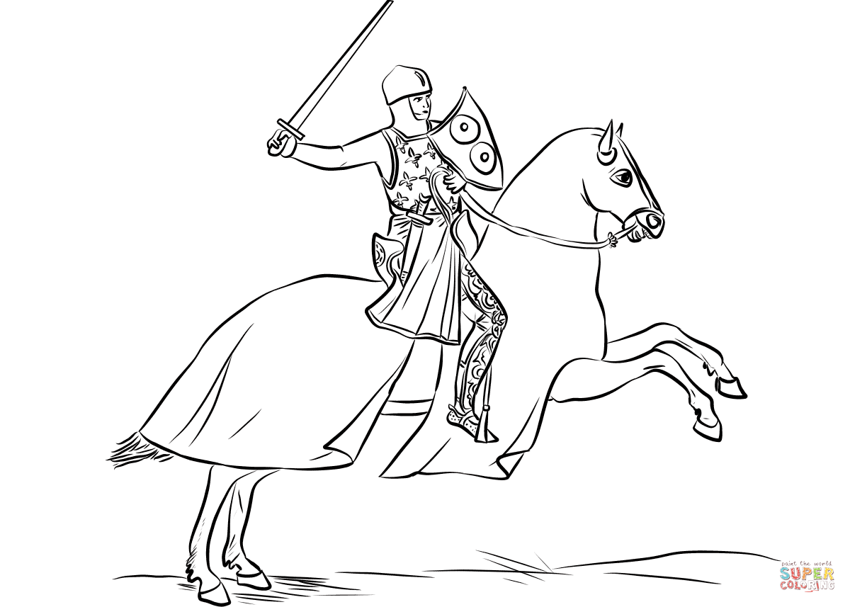 knight on horse coloring page trenk the little knight horse coloring page horse coloring knight page on