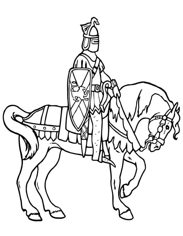 knight on horse coloring page warrior riding dengan gambar coloring page horse on knight