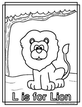 l is for lion coloring page blue blossom designs teaching resources teachers pay coloring l is page lion for