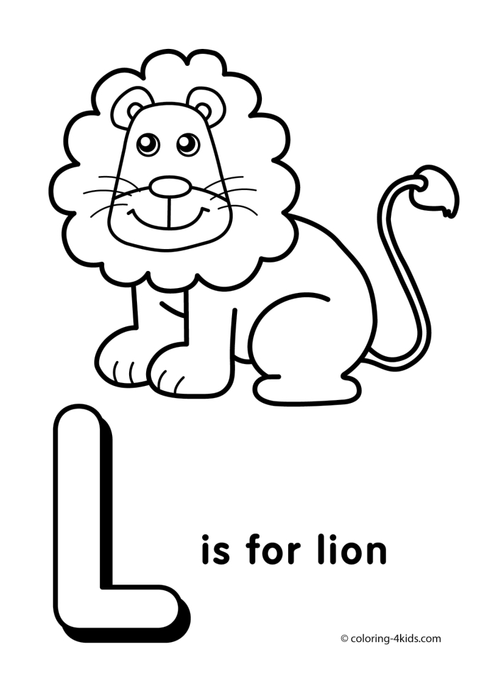 l is for lion coloring page get this letter l coloring pages lion u4l1 for l lion coloring is page