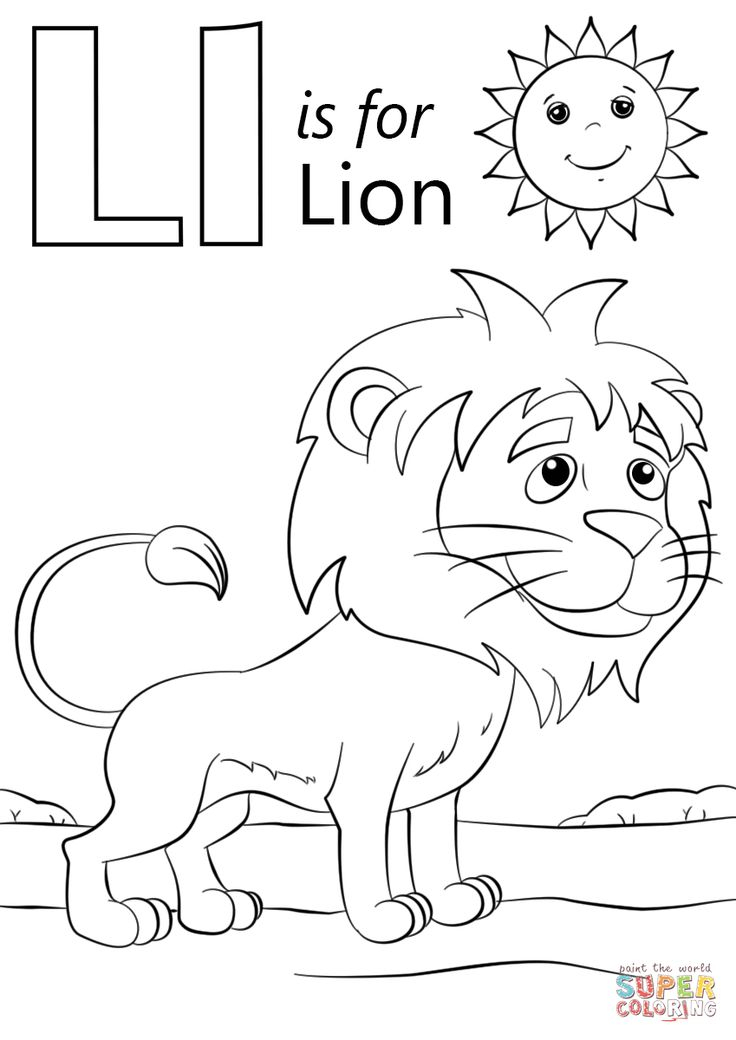 l is for lion coloring page l is for lion super coloring lion coloring pages l is l coloring page for lion is