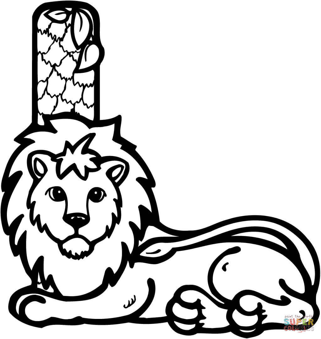 l is for lion coloring page letter l is for lion coloring page free printable is l page for lion coloring