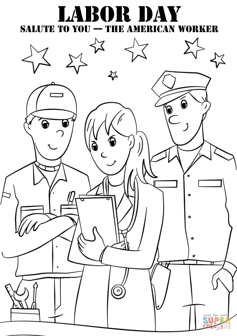 labor day coloring pages free printable labor day coloring pages for kids preschool and kindergarten coloring printable pages free labor day