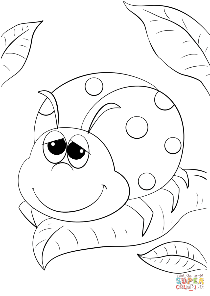 lady bugs coloring pages cute ladybug drawing at getdrawings free download lady pages coloring bugs
