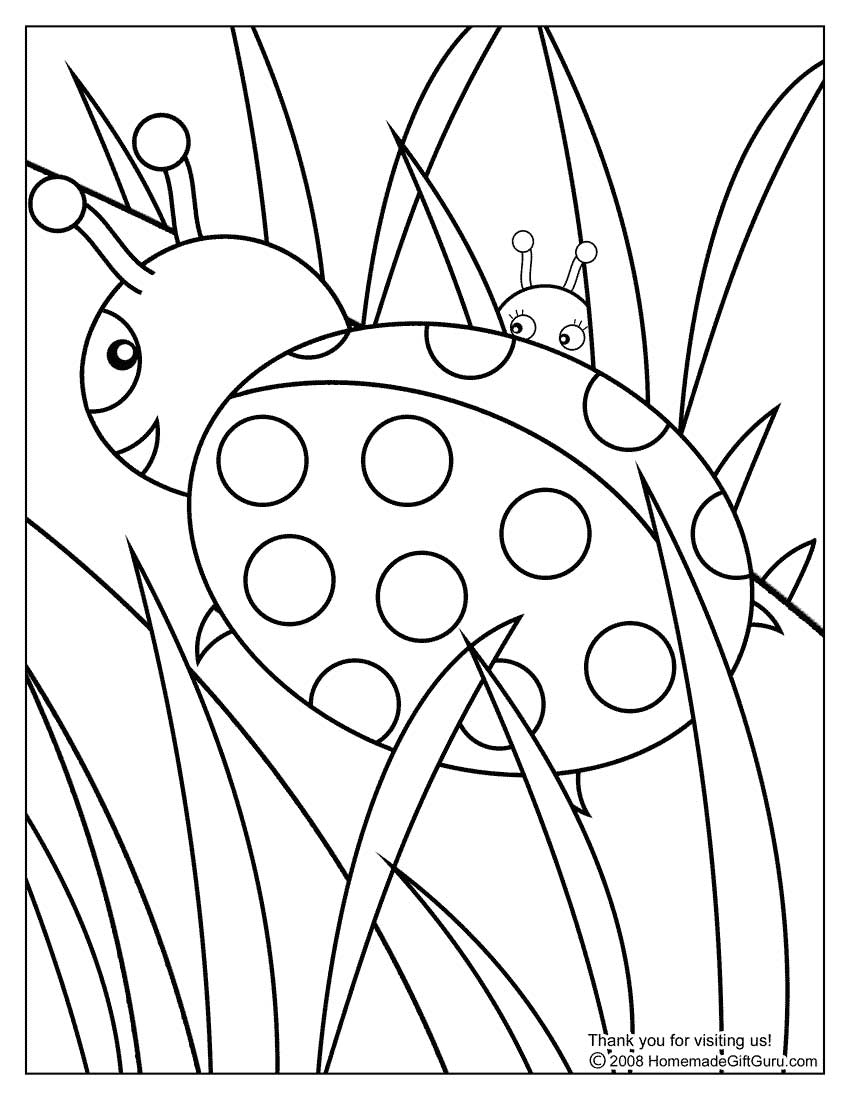 lady bugs coloring pages ladybug coloring pages birthday printable pages bugs coloring lady