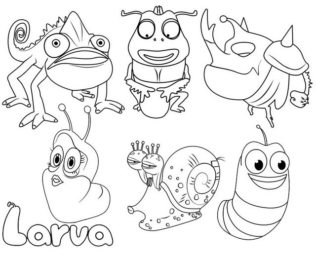 larva cartoon coloring pages pin by aulia on larve in 2020 coloring pages kind kids cartoon pages coloring larva