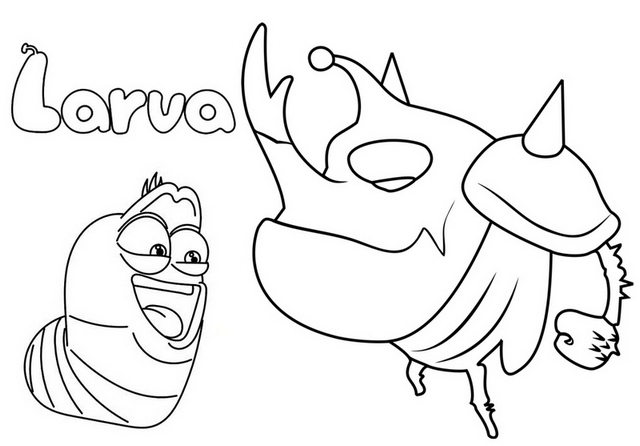 larva cartoon coloring pages red coloring page free larva coloring pages coloring larva cartoon pages