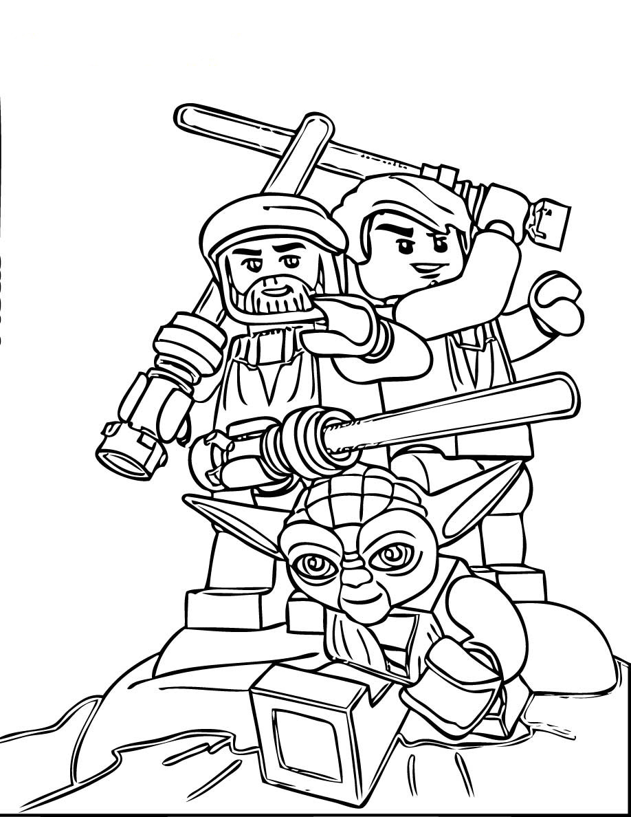 Lego coloring sheets printables