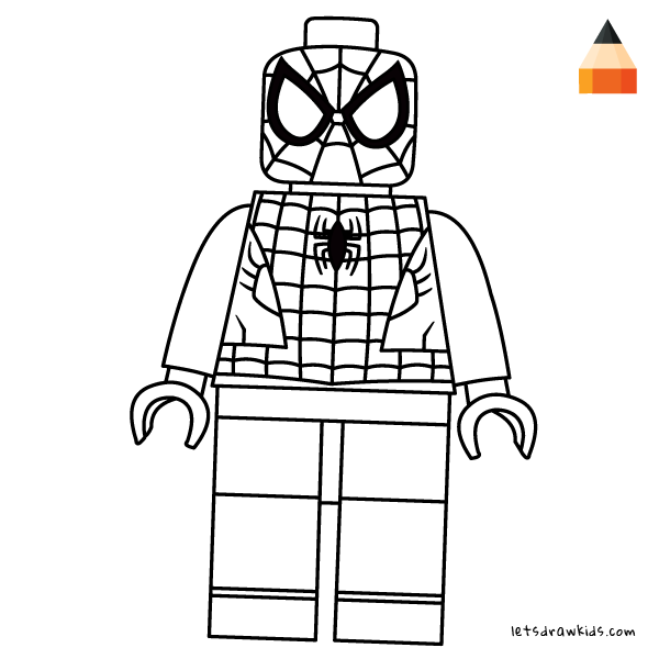 lego drawings to colour coloring page for kids how to draw lego spiderman colour drawings lego to