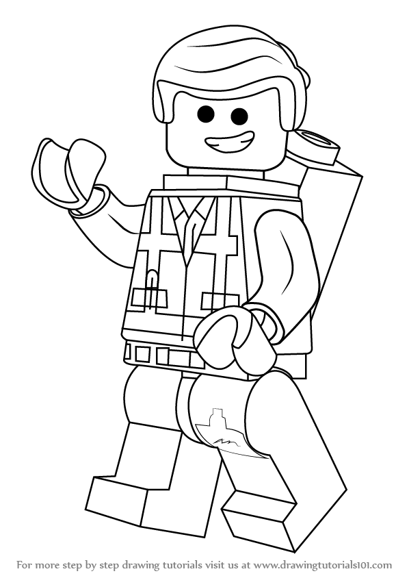 lego drawings to colour learn how to draw emmet brickowski from the lego movie drawings to lego colour