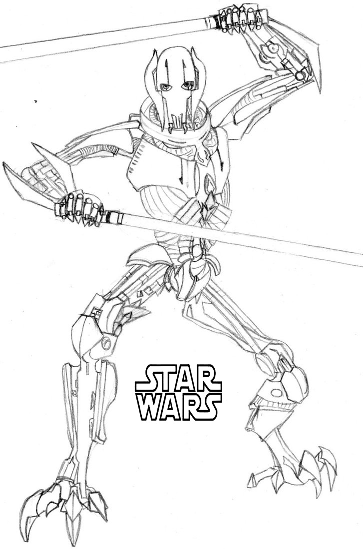 lego general grievous coloring page 50 top star wars coloring pages online free grievous lego page general coloring