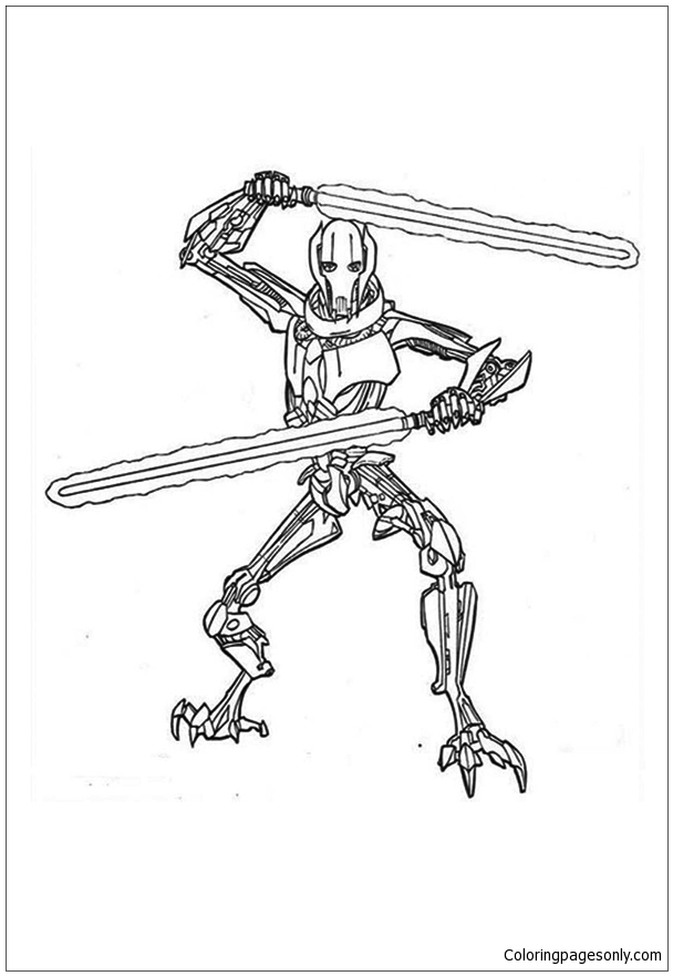 lego general grievous coloring page general grievous from star wars coloring page free coloring general page grievous lego