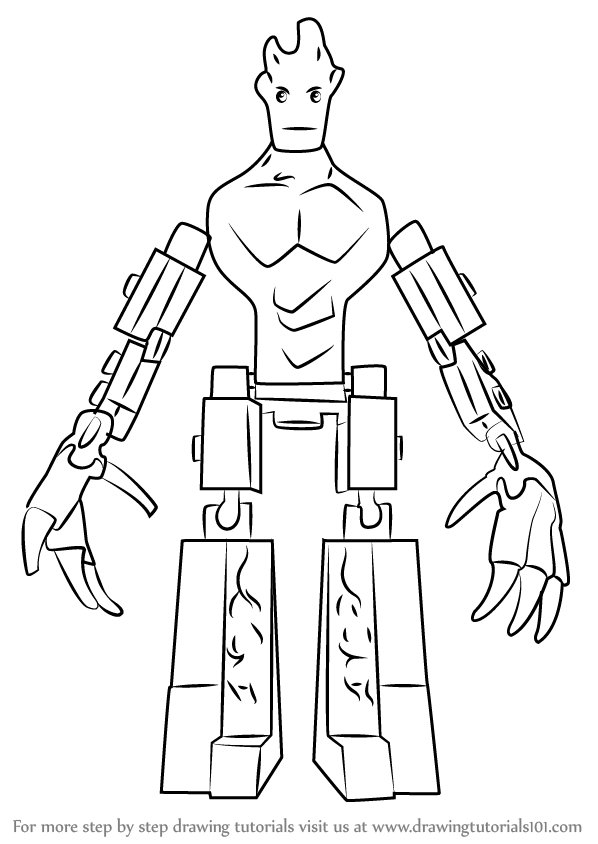 Lego groot coloring pages