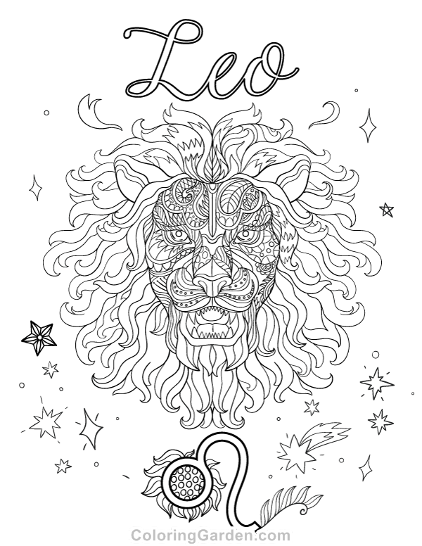 leo the lion coloring pages zodiac sign leo coloring page printable coloring pages lion pages coloring leo the
