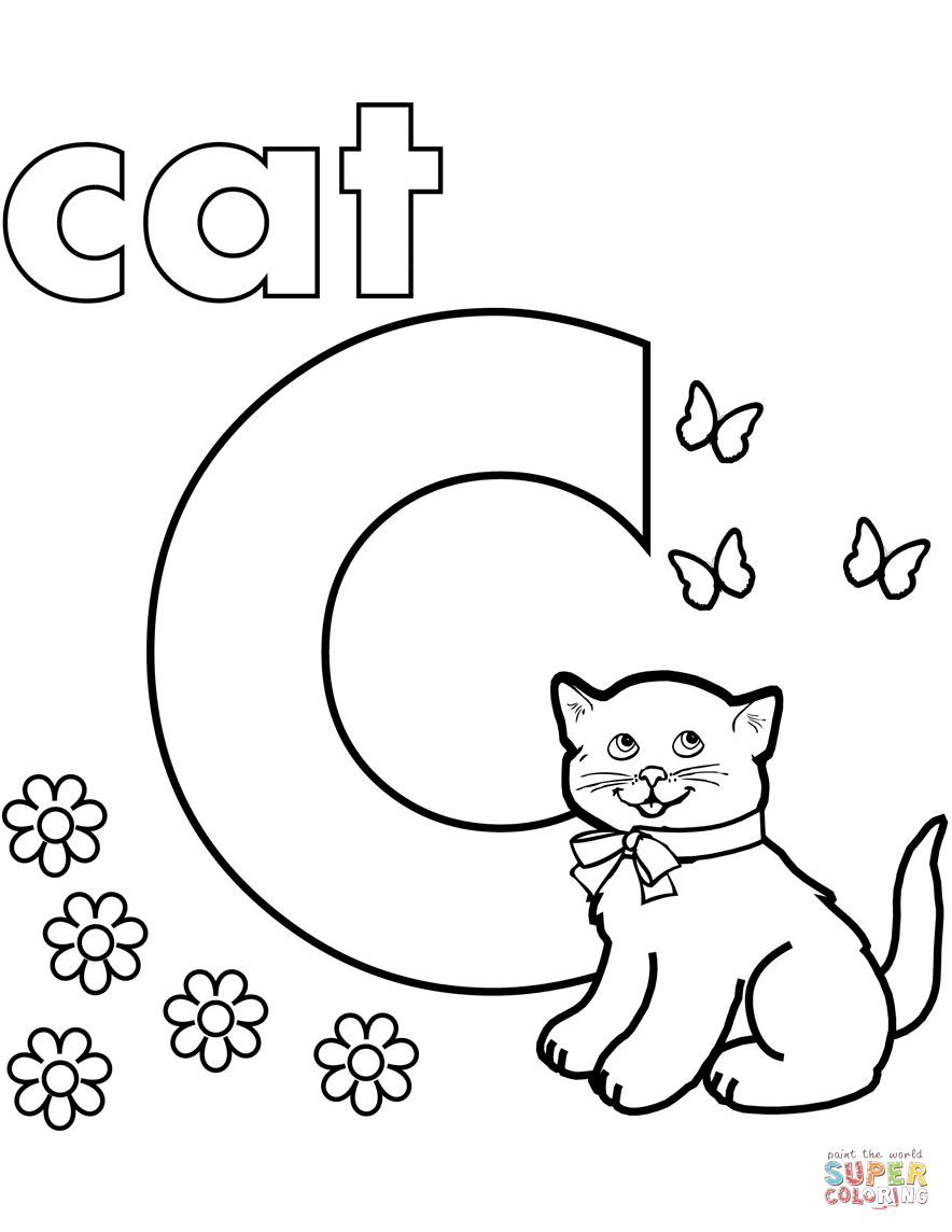 letter c coloring page free letter c printable coloring pages for preschool page c letter coloring
