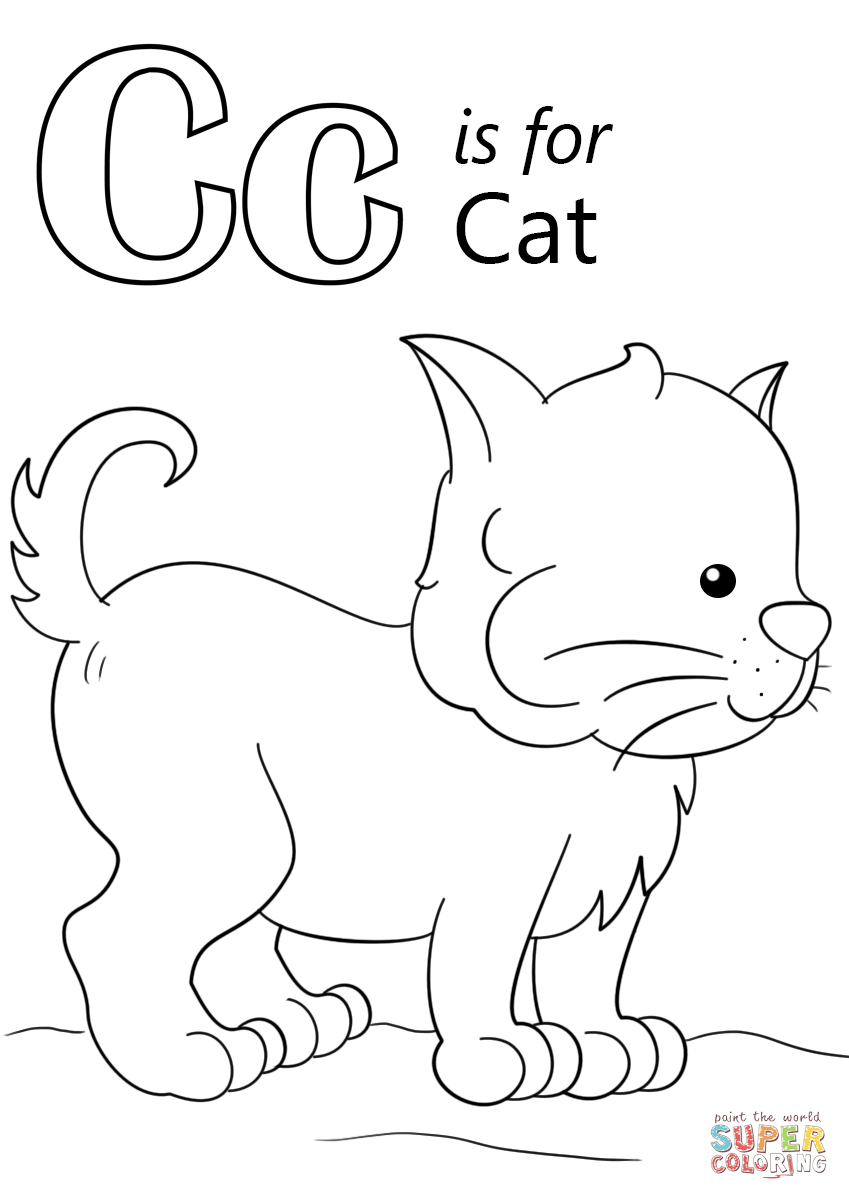 letter c coloring page free printable alphabet coloring pages for kids best coloring c page letter