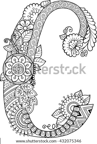 letter c coloring pages for adults coloriage alphabet fleurs c coloring cool coloring coloring for pages letter adults c
