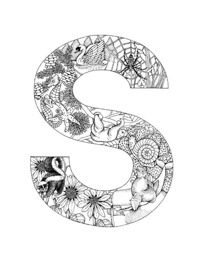 letter c coloring pages for adults instant digital download adult coloring page letter c with c for pages coloring letter adults