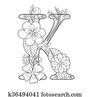 letter k coloring pages for adults adult coloring page floral letters alphabet k hand for adults k coloring letter pages