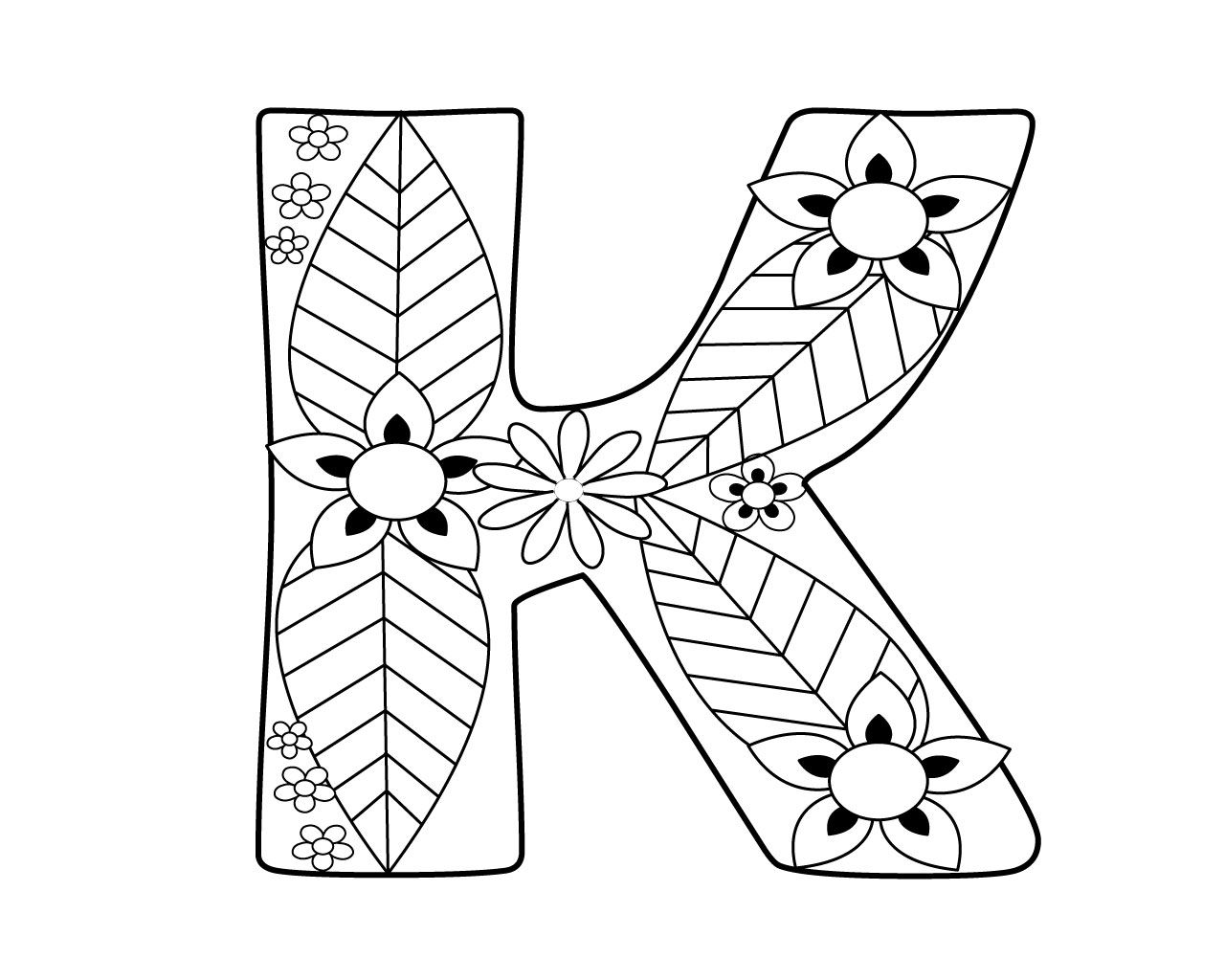 letter k coloring pages for adults totally free printable letters to teach your kiddo the pages k coloring adults for letter