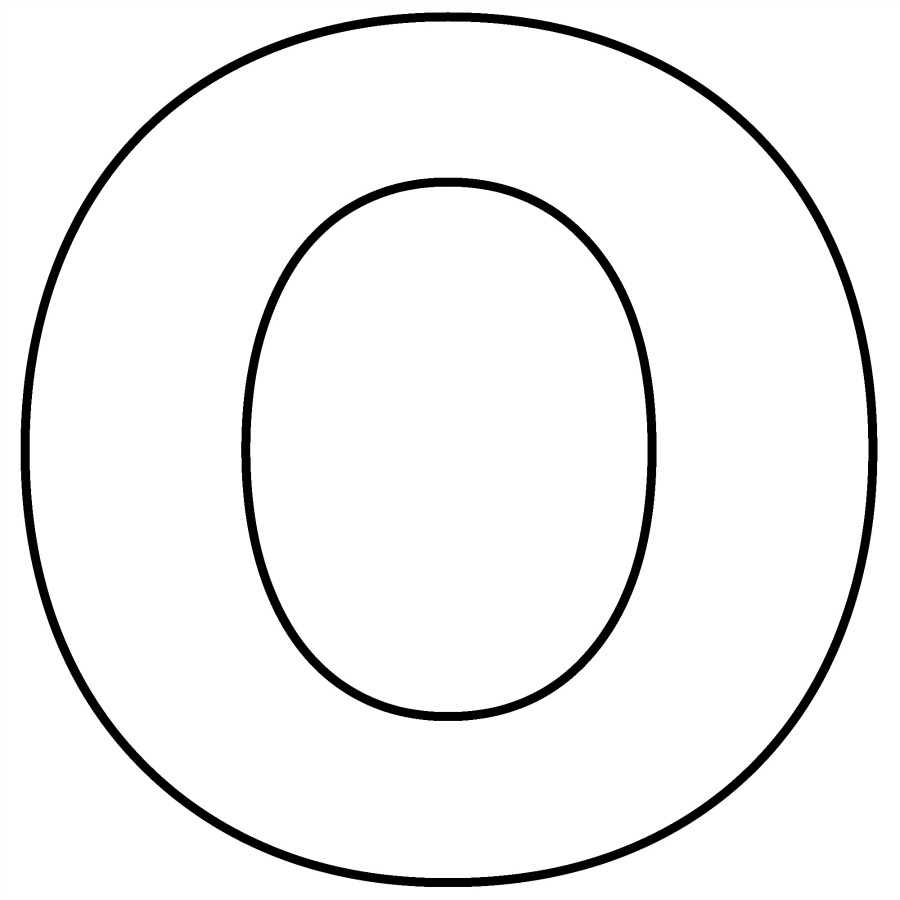 Letter o for coloring