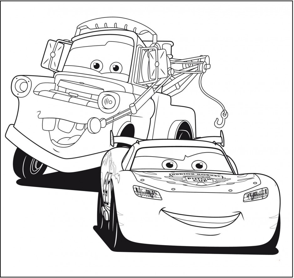 Lightning mcqueen free coloring pages