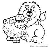 lion and lamb coloring page askcom lion and lamb lamb craft lion coloring pages page lion and lamb coloring