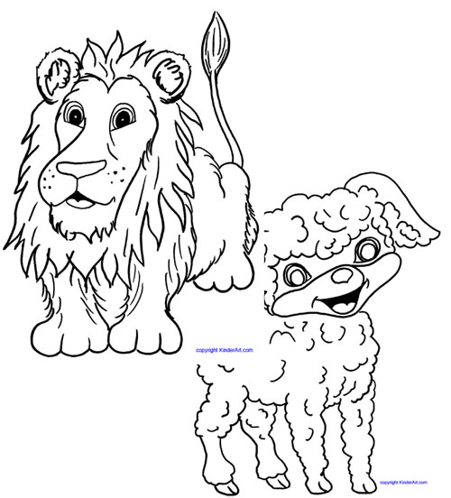 lion and lamb coloring page lion and lamb coloring pages collection free coloring sheets lion page lamb and coloring