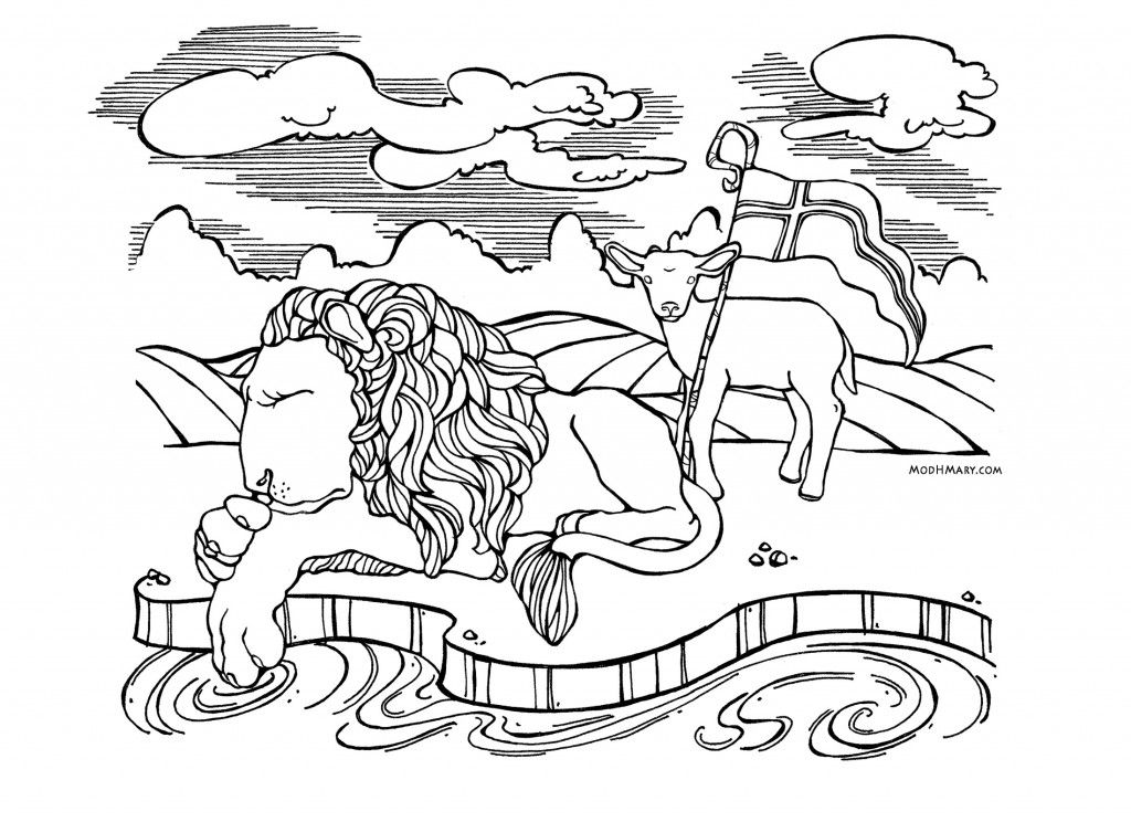 lion and lamb coloring page lion and lamb coloring pages coloring home lamb page lion coloring and