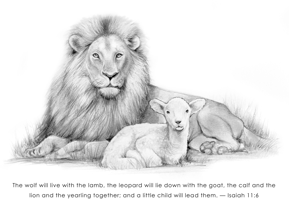 lion and lamb coloring page lion and lamb coloring pages coloring home page lamb and lion coloring