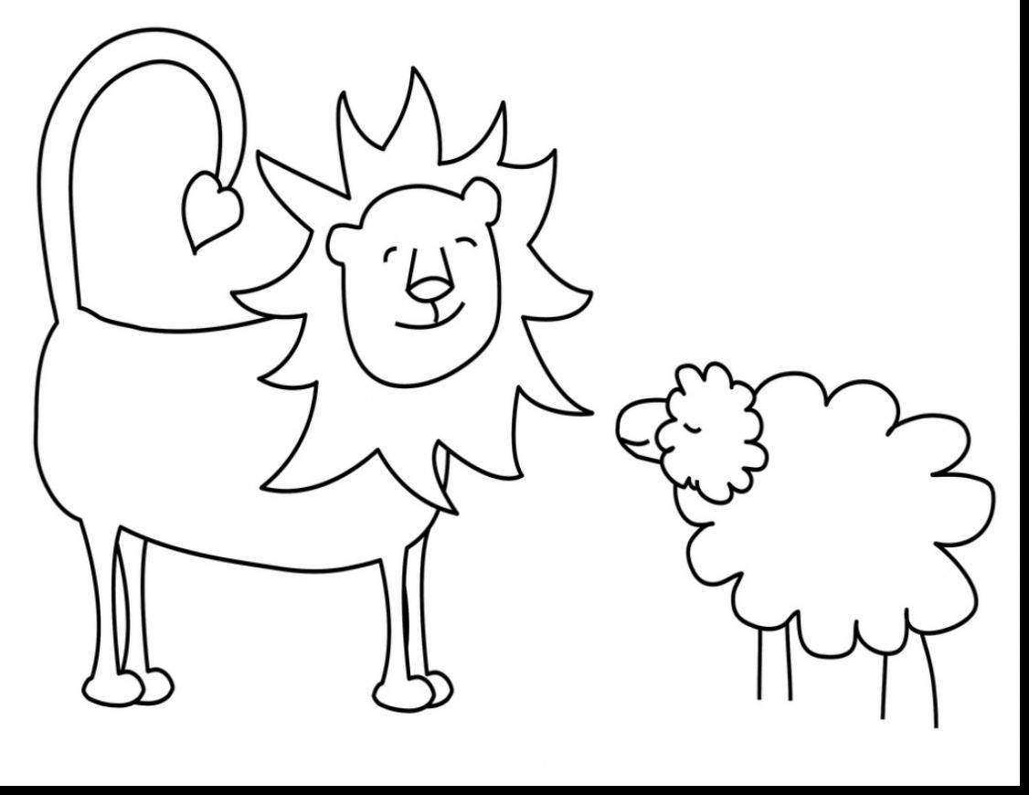 lion and lamb coloring page lion and lamb coloring pages home sketch coloring page coloring and lion lamb page