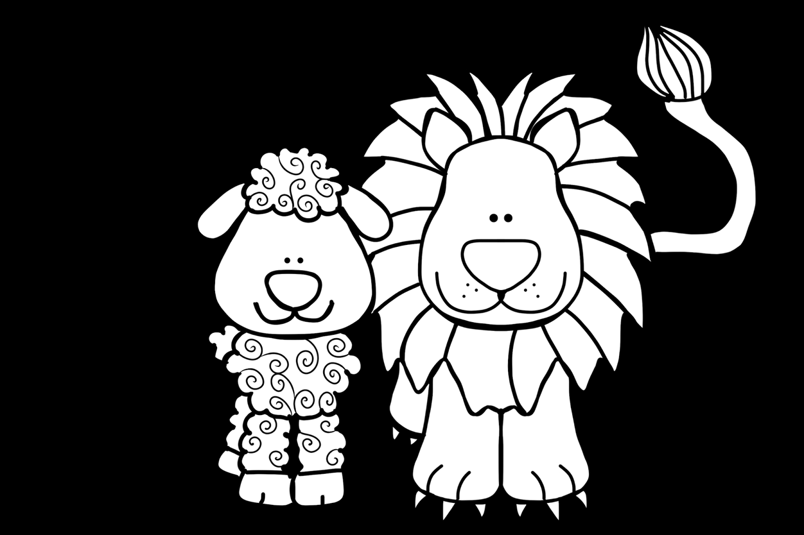 lion and lamb coloring page lion and lamb coloring pages lion and lamb abc coloring lion lamb and coloring page