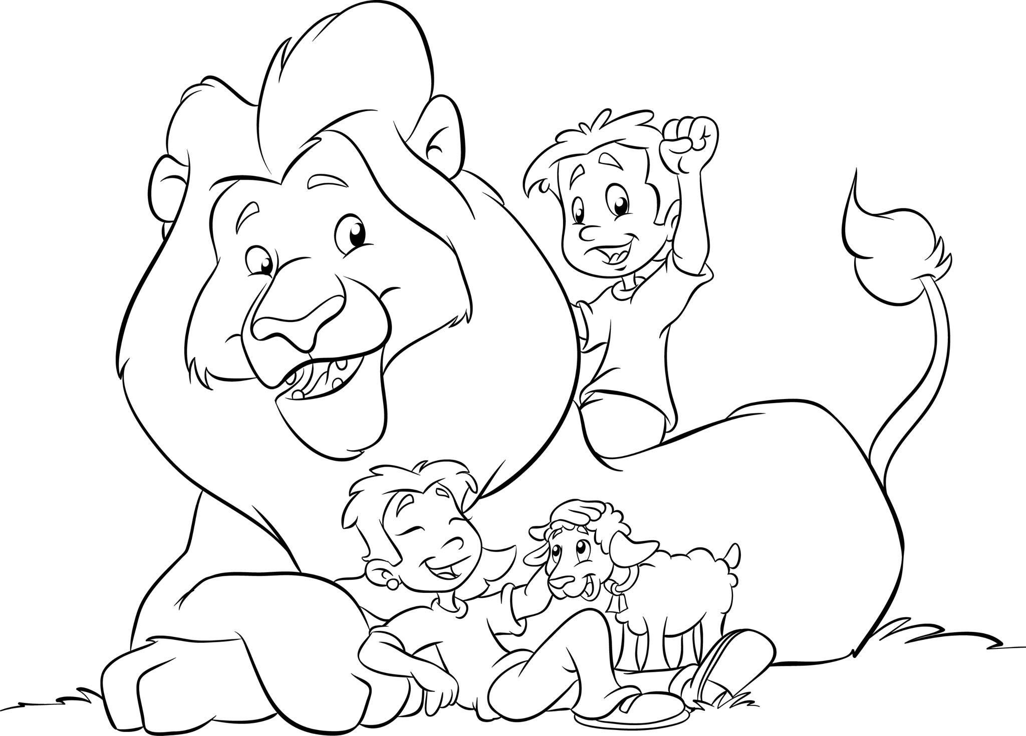 lion and lamb coloring page march lion and lamb printable to color or glue cotton lamb and page coloring lion