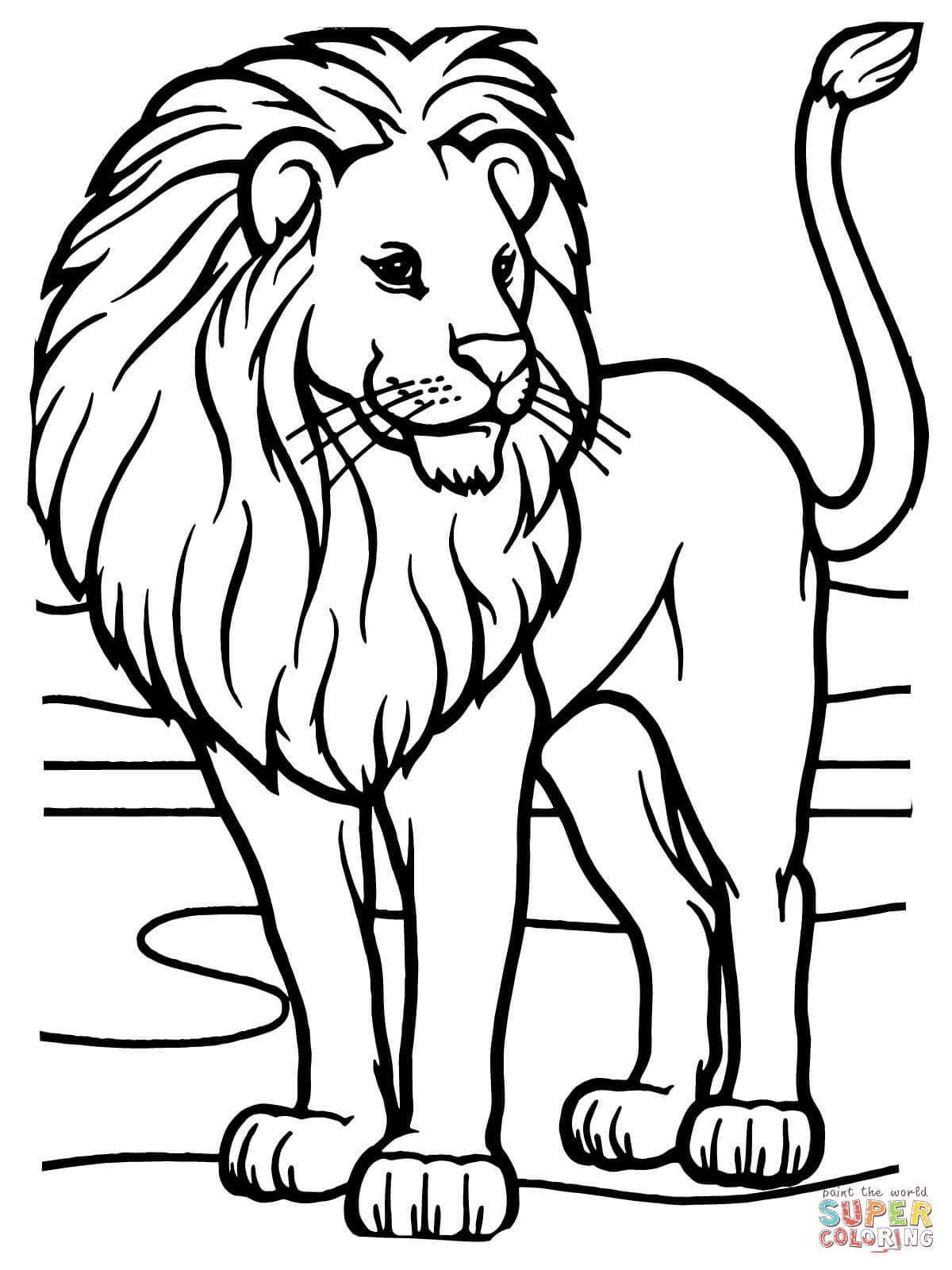 lion coloring pictures north african lion coloring cswd lion pictures coloring