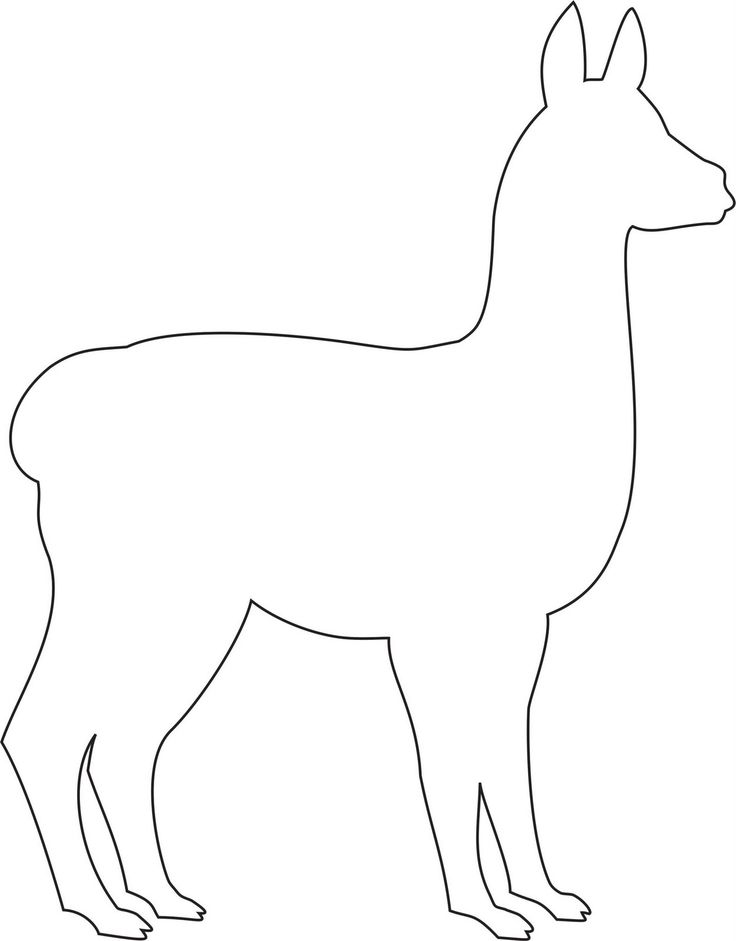 llama outline alpaca pattern use the printable outline for crafts outline llama