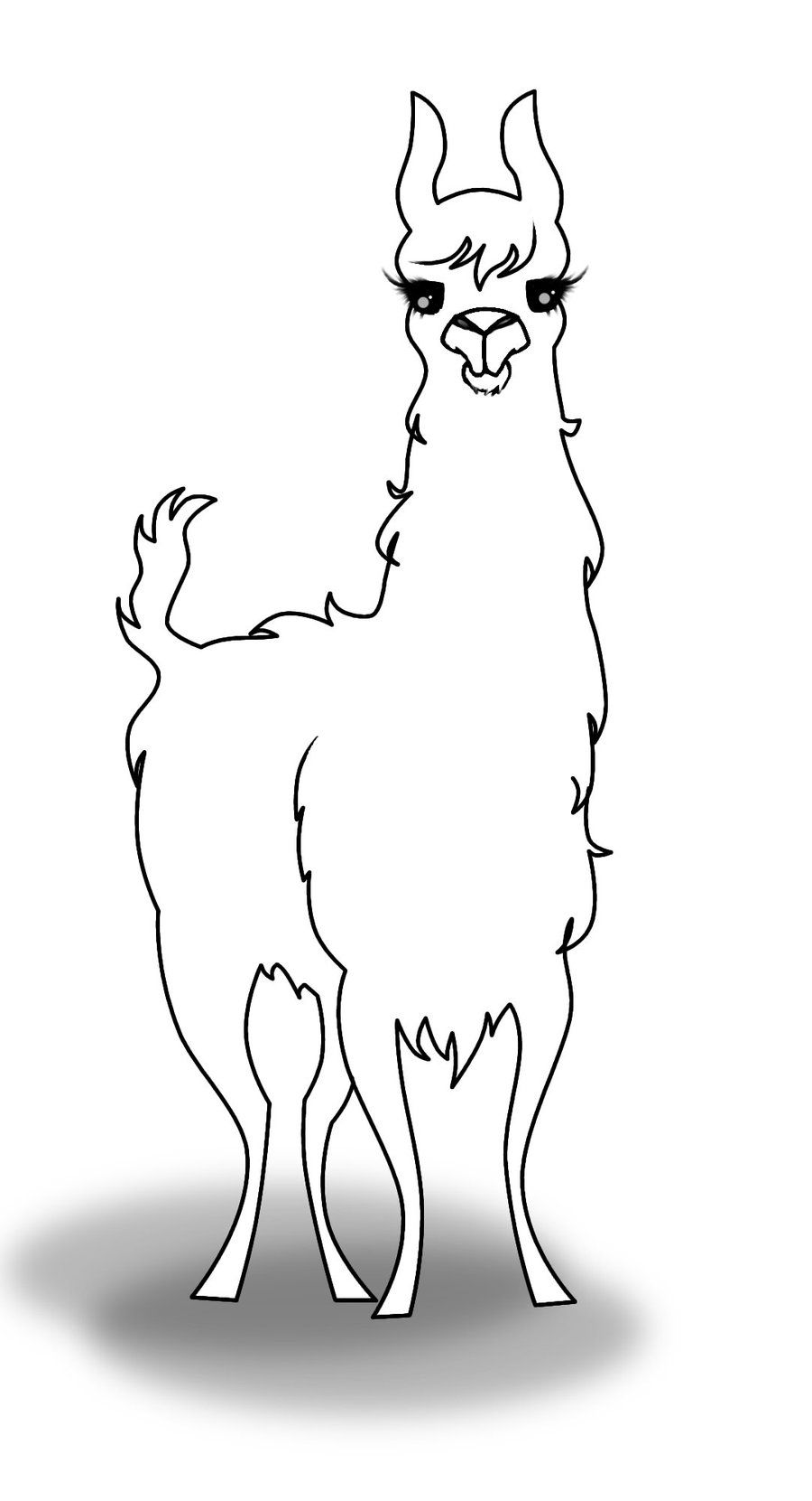llama outline pin by muse printables on printable patterns at outline llama