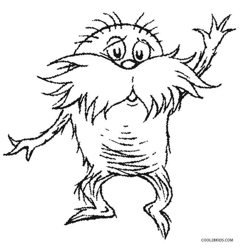 lorax coloring sheet printable lorax coloring pages for kids cool2bkids coloring lorax sheet