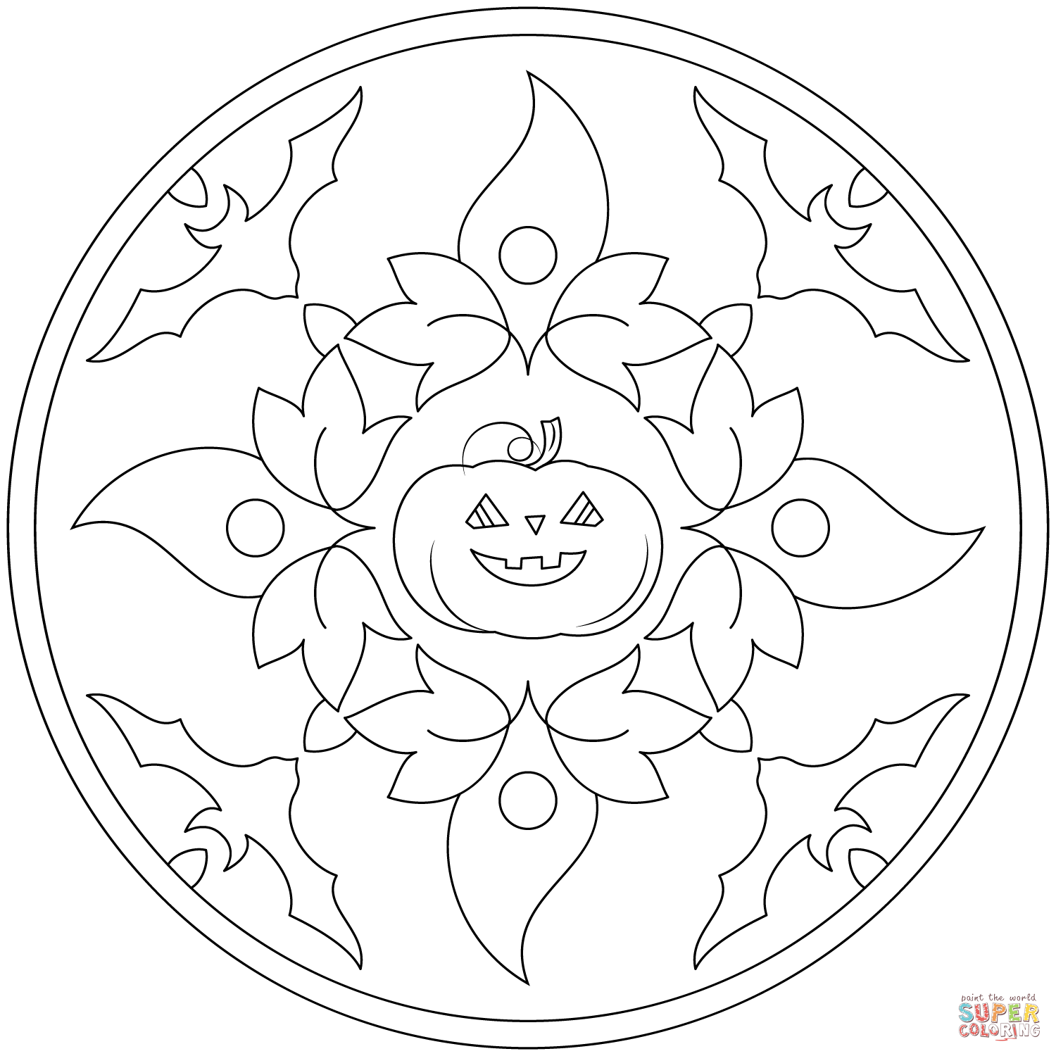 mandala halloween coloring pages halloweens mandalas drawing 1 funnycrafts halloween mandala