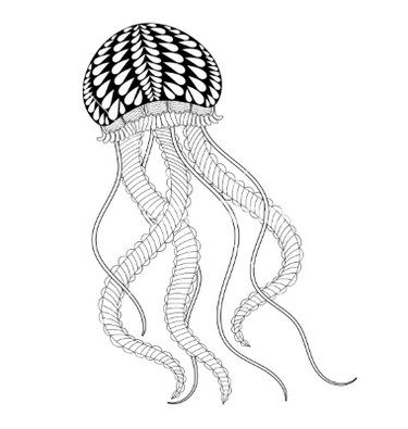 mandala jellyfish coloring page adult coloring pages set of free ocean inspired printables coloring page jellyfish mandala