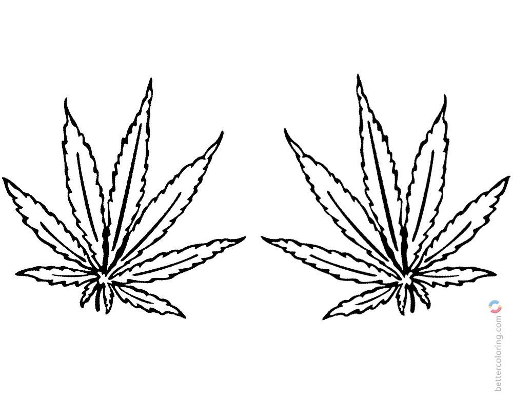 marijuana leaf coloring pages step 6 how to draw a pot leaf marijuana leaf coloring pages